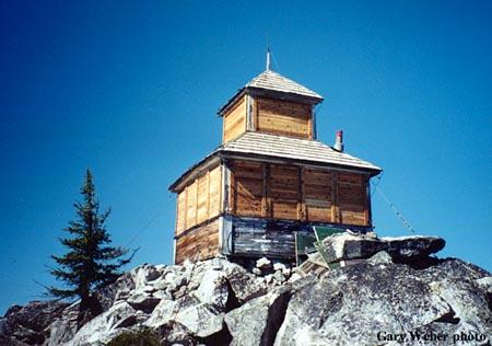 Grave Peak Fire Lookout Cabin