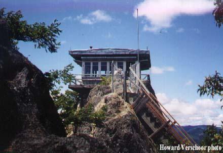 acker rock fire lookout cabin