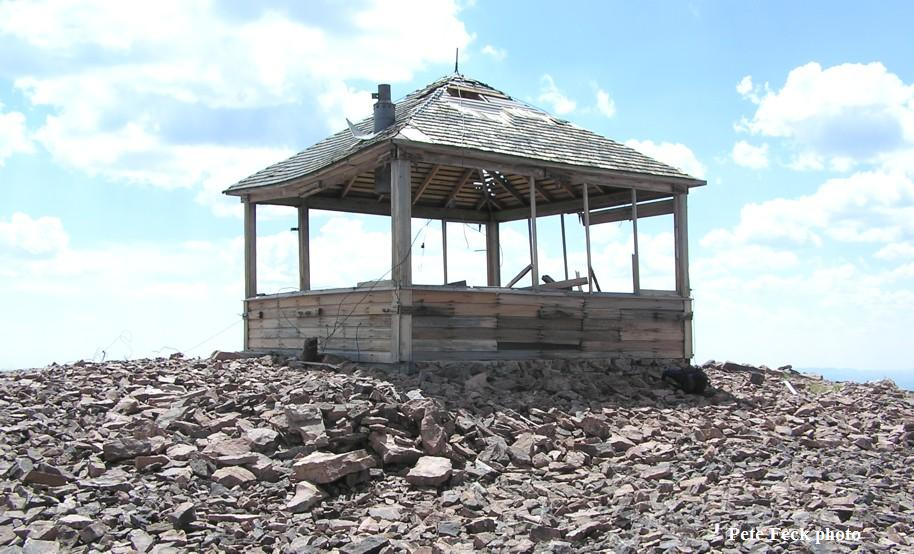 Wyoming Peak Fire Lookout Cabin